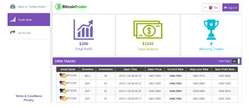 bitcoin demo trading app
